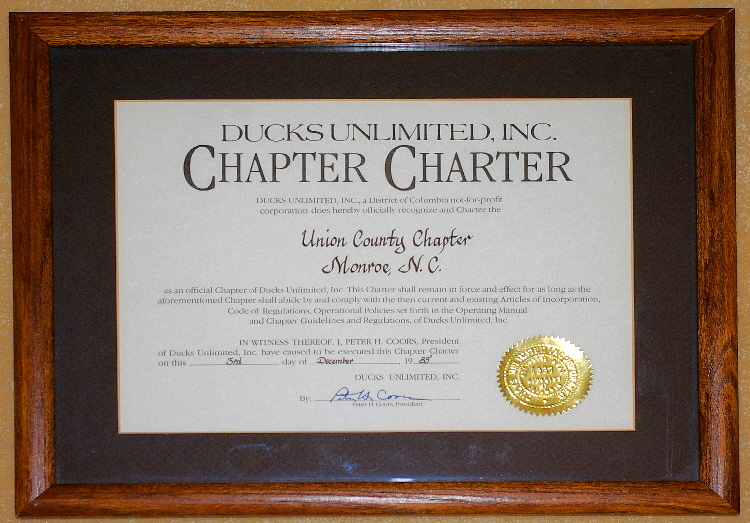 Ducks Unlimited Charter 2